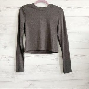 H&M ribbed long sleeve top size M